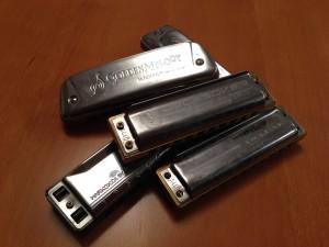 A pile of harmonicas, harmonica kit