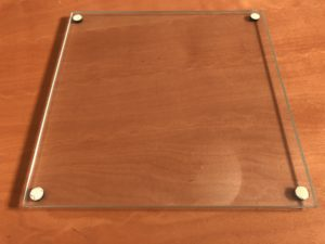 Glass plate to prepare for custom harmonica comb