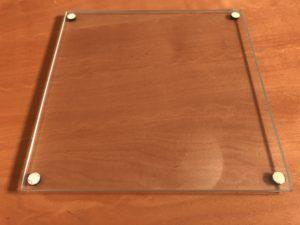 Glass plate to prepare for custom harmonica comb