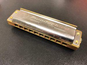 Custom harmonica by J.A. Harmonicas.